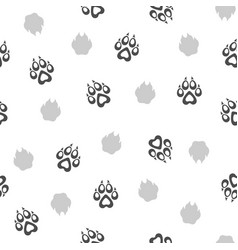 seamless pattern with traces of dogs vector image vector image