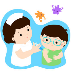vaccination child cartoon vector image