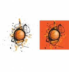 basketball splat vector image vector image