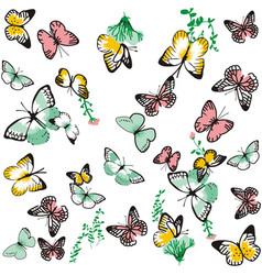 Cute butterfly pattern vector