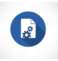 Document Settings Icon vector image vector image