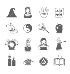 Fortune Teller Icon Set vector image vector image