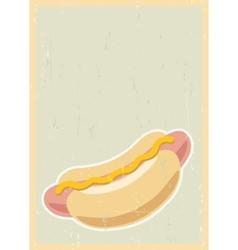 Hot dog background vector image