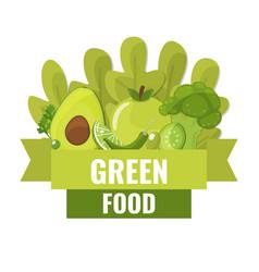 organic food banner green food concept vector image