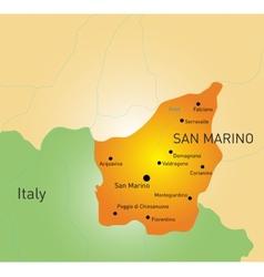 San Marino map vector image