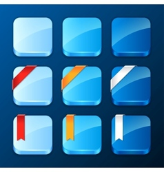 Set of the app icons with ribbons and banners vector image vector image
