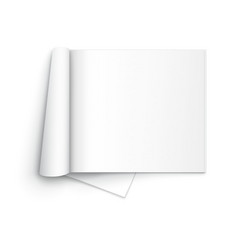 Blank open magazine template on white background vector image vector image