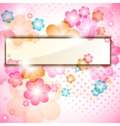 colorful flower frame vector image