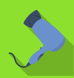 Hair dryerbarbershop single icon in flat style vector