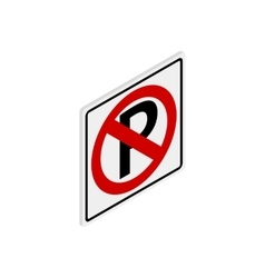 Parking is prohibited icon isometric 3d style vector image