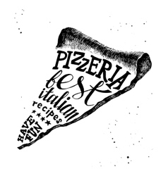 Pizzeria hand drawn lettering vector image vector image