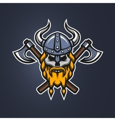 Skull viking warrior vector image vector image