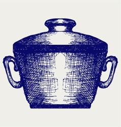 Steel pot vector image vector image