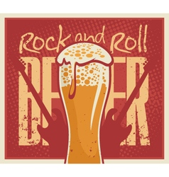 beer Rock and roll vector image