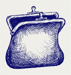 Empty open purse vector image vector image