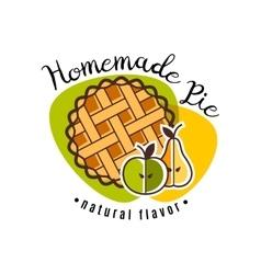 Homemade pie emblem vector image
