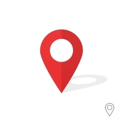 Red map pin indicator flat gps flag icon vector image