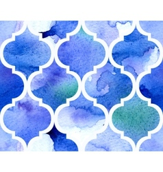 Watercolour moroccan background Seamless vector image vector image