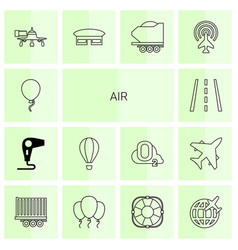 14 air icons vector