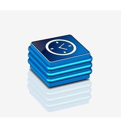 3d glossy clock icon vector