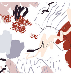 Abstract pattern with grey peach and red vector