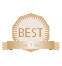 advertising vintage badge best number one vector image vector image