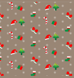 Background with festive christmas decorations vector