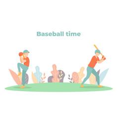 baseball time vector image