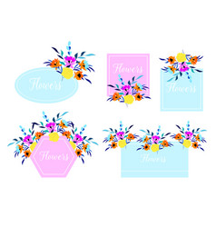 beautiful wedding and invitation card with floral vector image