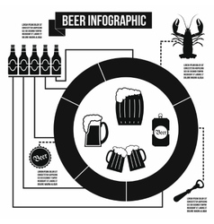 Beer infographic simple style vector image