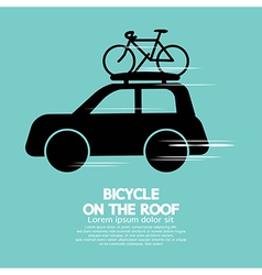 Bicycle On The Roof vector