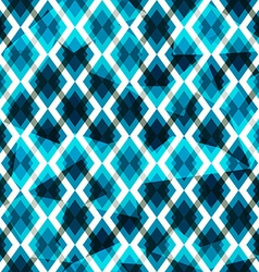 Blue diamonds seamless pattern vector