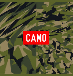 Camo pattern army soldier abstract vector