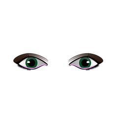 cartoon woman eyes set isolated on white vector image