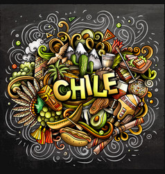 chile hand drawn cartoon doodles vector image