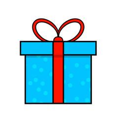 christmas present simple icon for christmas vector image
