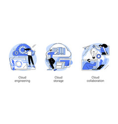 cloud-based computing abstract concept vector image