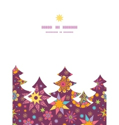 colorful stars Christmas tree silhouette pattern vector image