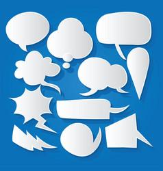 Comic bubble speech balloons speech cartoon 205 vector