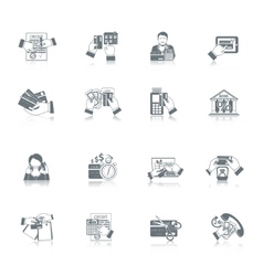 Credit Life Icon Set vector image