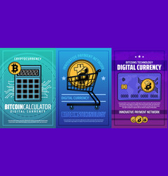cryptocurrency bitcoin mining currency exchange vector image