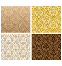 damask pattern set vector image