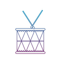 Degraded line wood drum musical object play vector