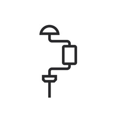 drill icon in modern style for web site and vector image