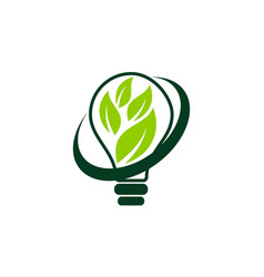 Ecology solutions logo design template vector