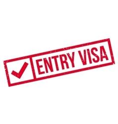 Entry Visa rubber stamp vector