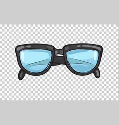 fashionable black eyeglasses frame vector image