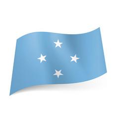 Flag federated states micronesia four white vector