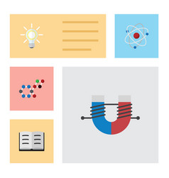 Flat icon knowledge set of orbit attractive force vector