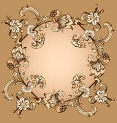 floral hand drawn border vector image